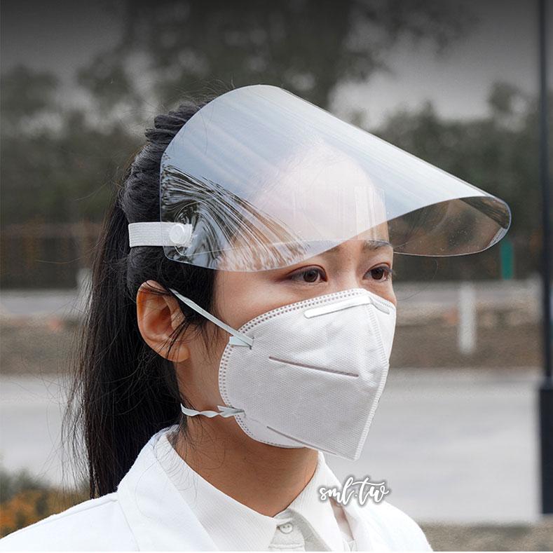 輕便好用 透明防護面罩
