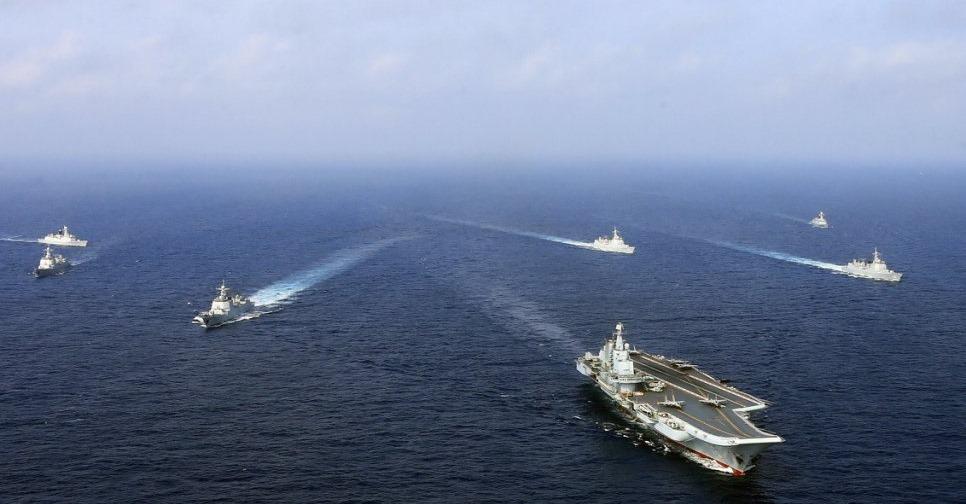 中共解放軍宣布在台灣海峽展開軍演